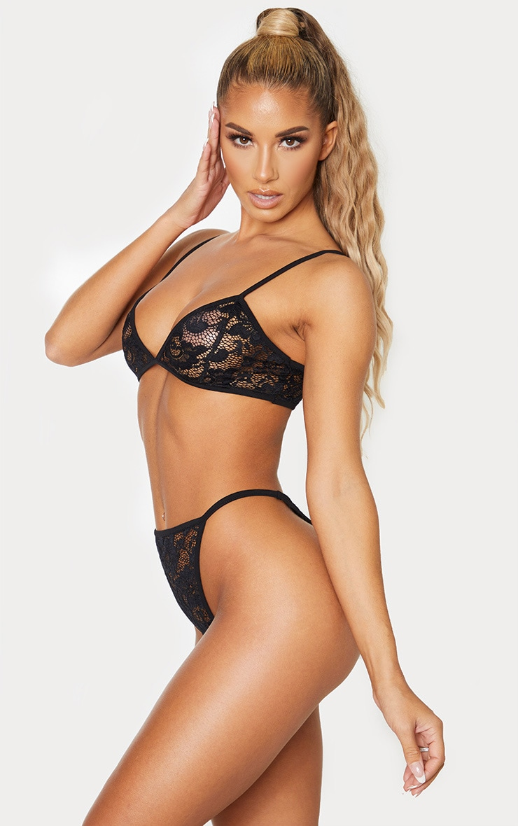 Basic Black Lace Lingerie Set 4
