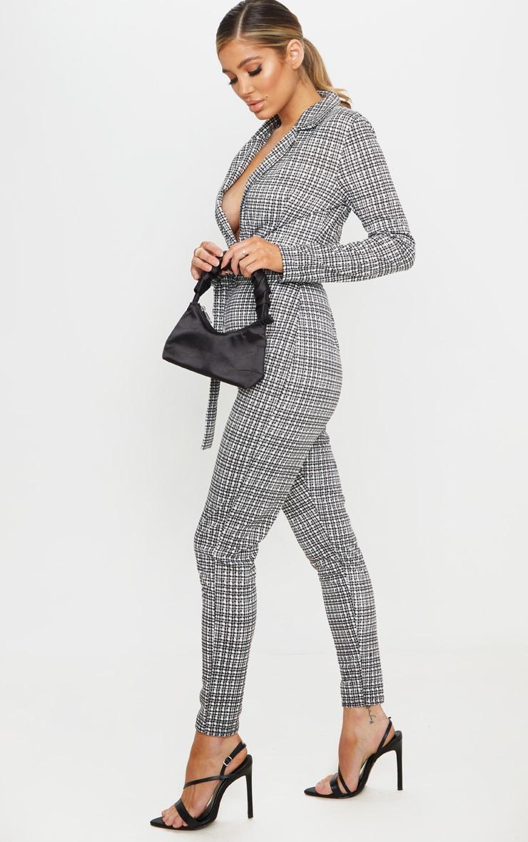 Monochrome Check D Ring Blazer Jumpsuit 4