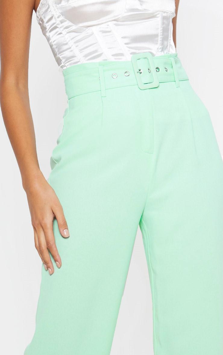 Mint Lightweight Woven Belted Wide Leg Trouser 5