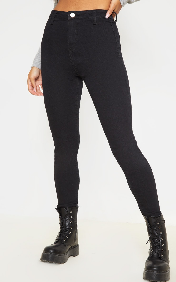 Black Basic High Waisted Disco Skinny 2