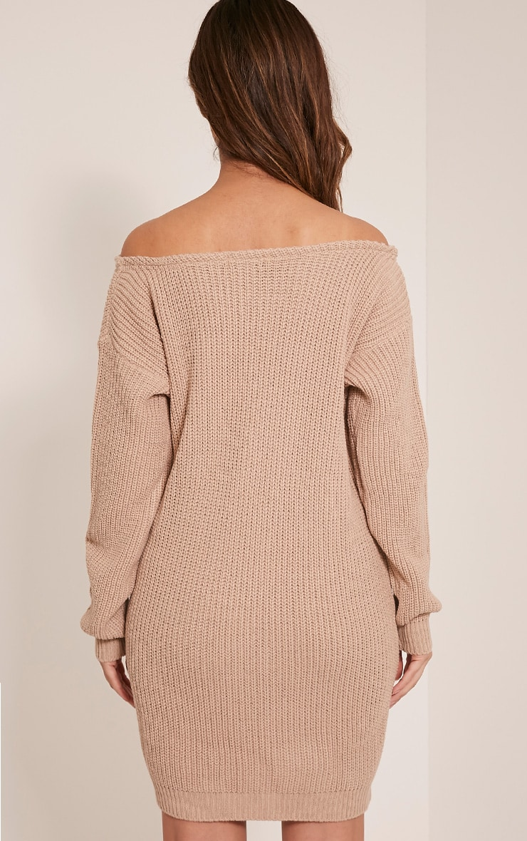 Larissa Stone Off The Shoulder Knitted Dress 2
