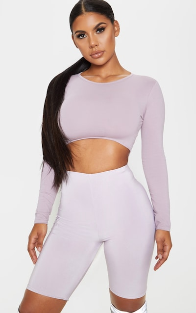 Dusty Lilac Slinky Longline Cycle Short