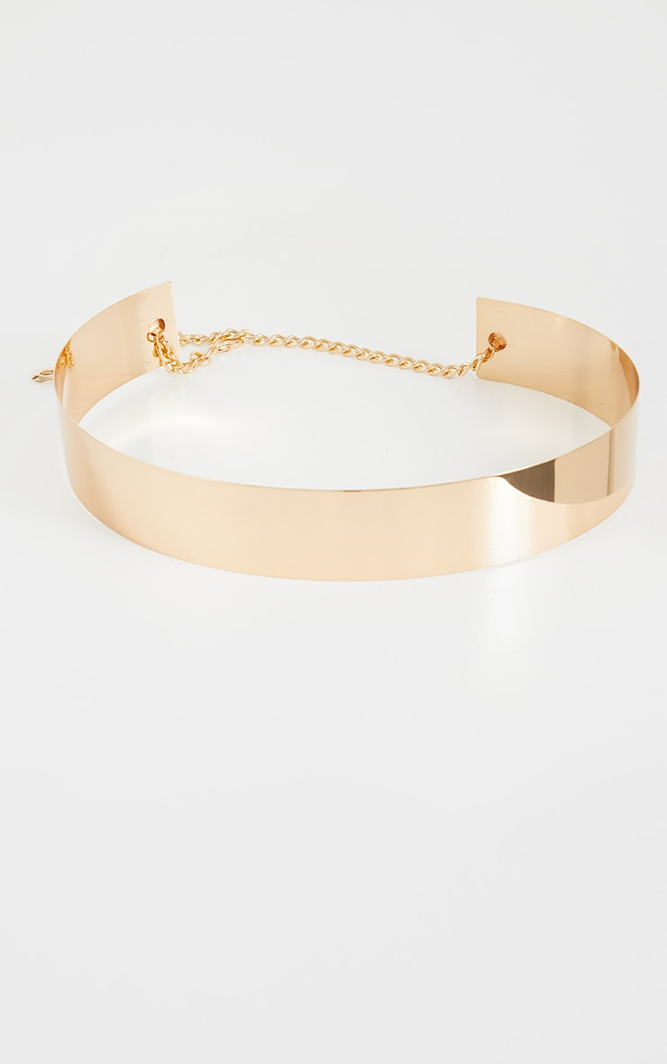 Gold Metal Plated Waist Belt 2