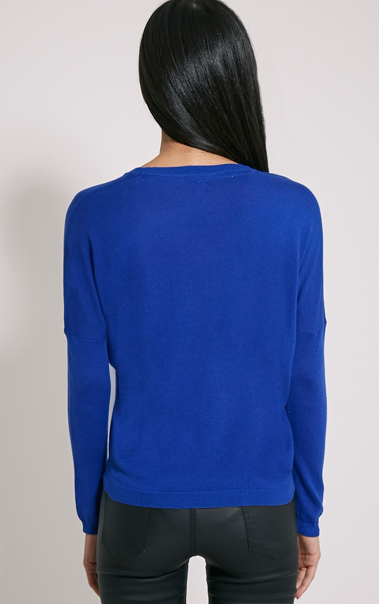 Mirari Cobalt Fine Knit Jumper 2