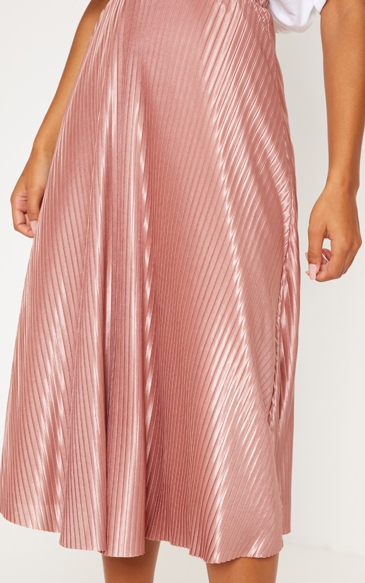 Rose Pleated Full Midi Skirt 5