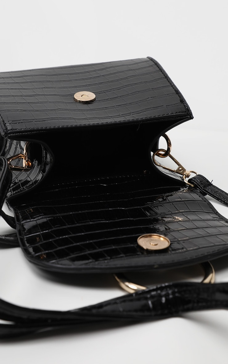 Black Ring Detail Mini Bag 3