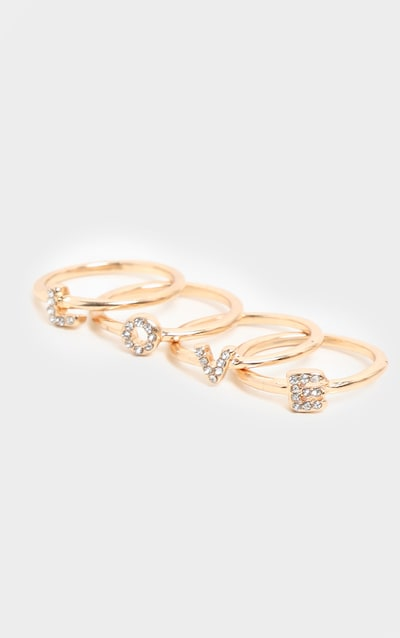 Gold Love Multi Ring Pack