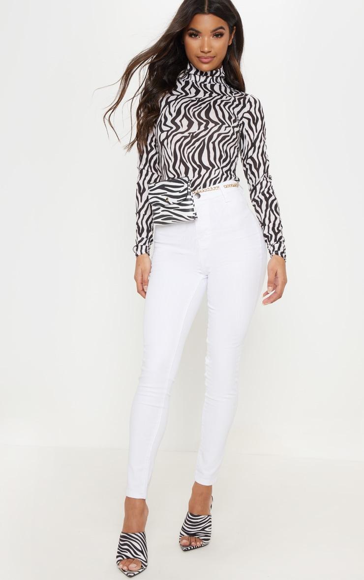 Jean skinny disco blanc 1