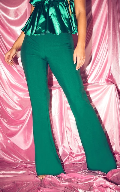 Green Flare Tailored Trouser