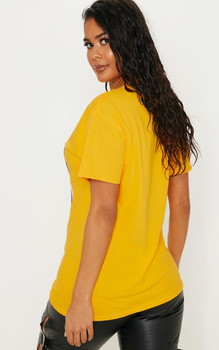 Yellow Tokyo Samurai Printed T shirt 3