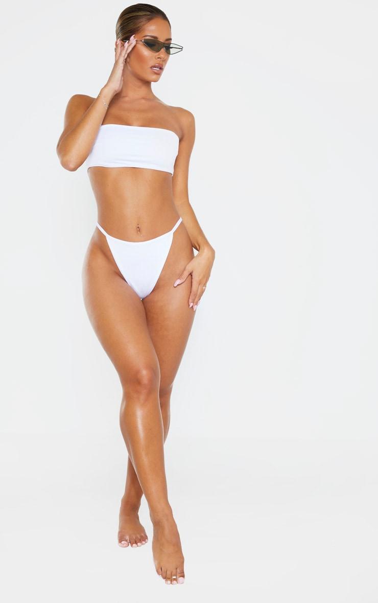 Bas de maillot de bain string blanc Mix & Match 4