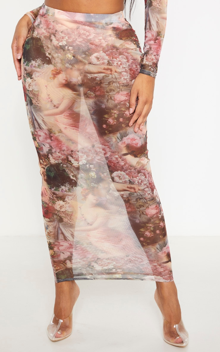 Shape Nude Renaissance Mesh Midaxi Skirt 2
