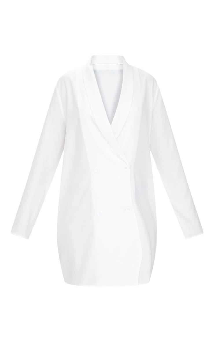 White Oversized Blazer Shift Dress 3