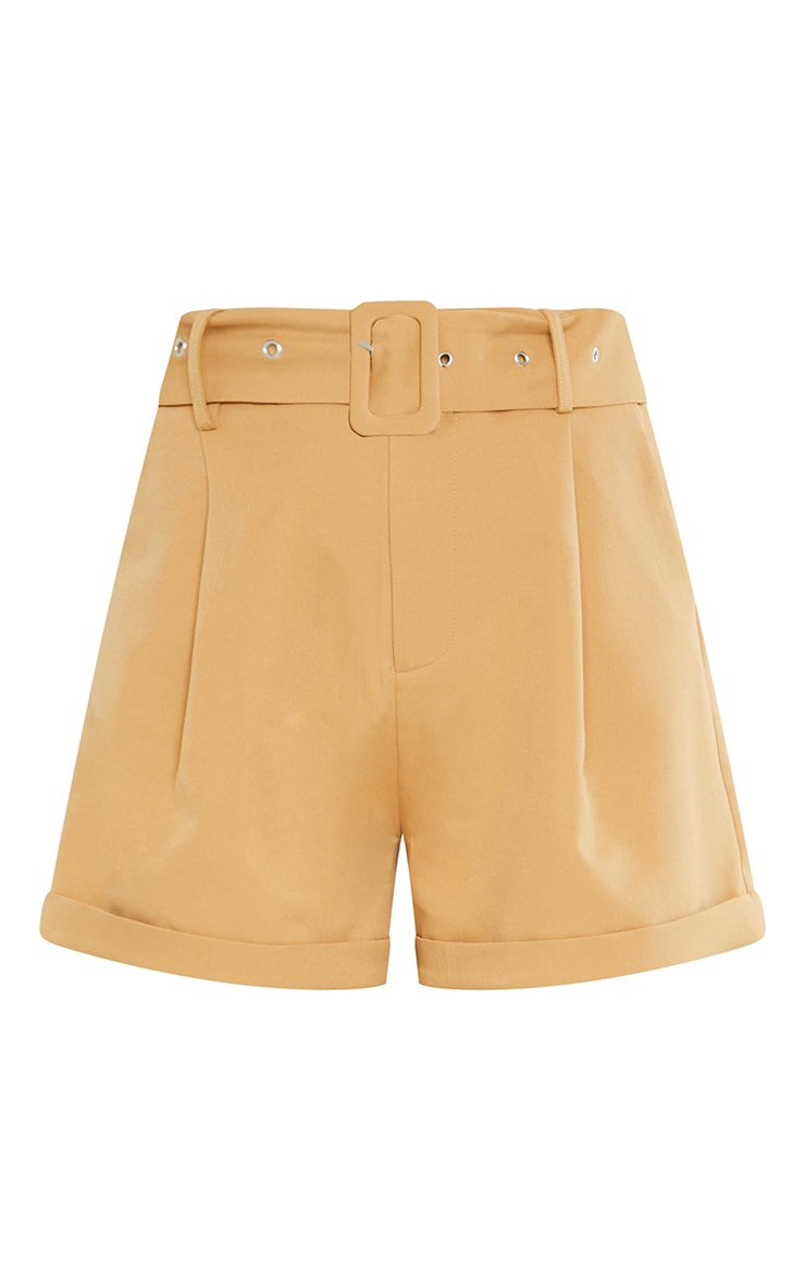 Stone Woven Belted Tailored Short 6