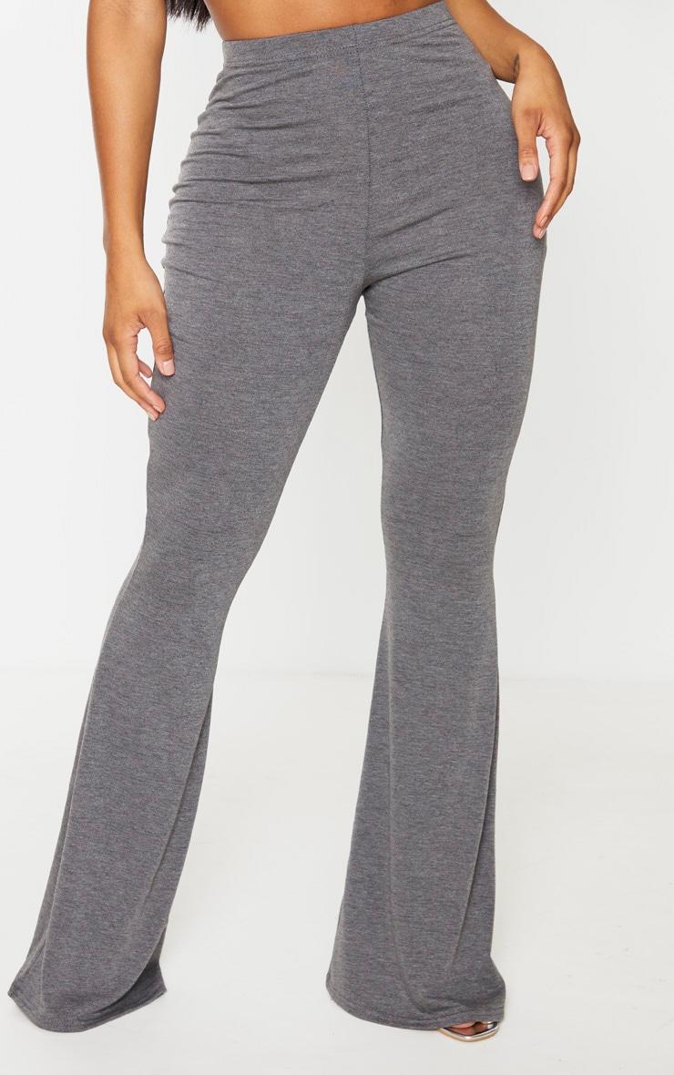 Shape Grey Jersey High Waist Flared Pants 2