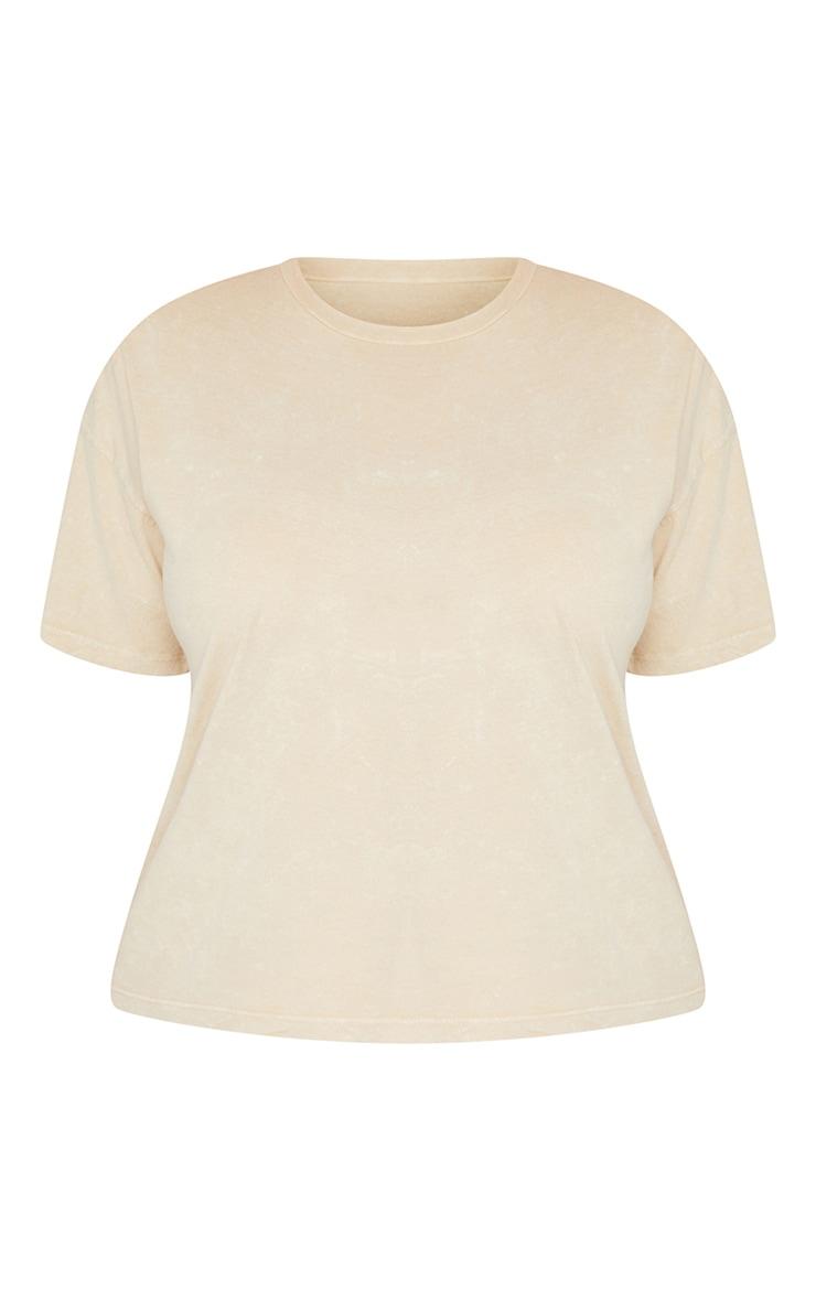 Plus Stone Acid Wash Oversized T Shirt 5