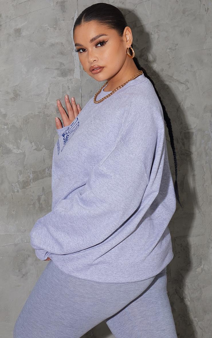 Plus Grey Atlanta Slogan Sweatshirt 2