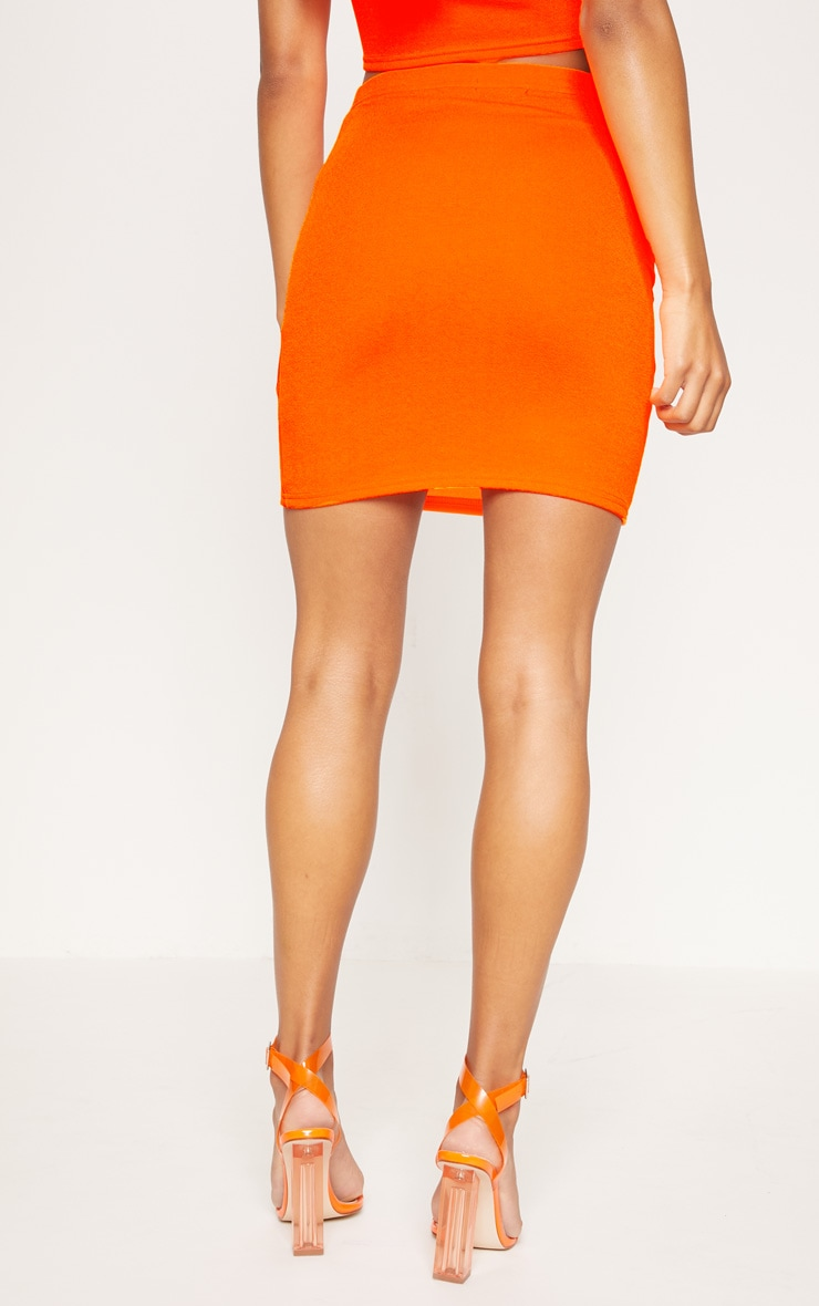 Neon Orange Mini Skirt 4