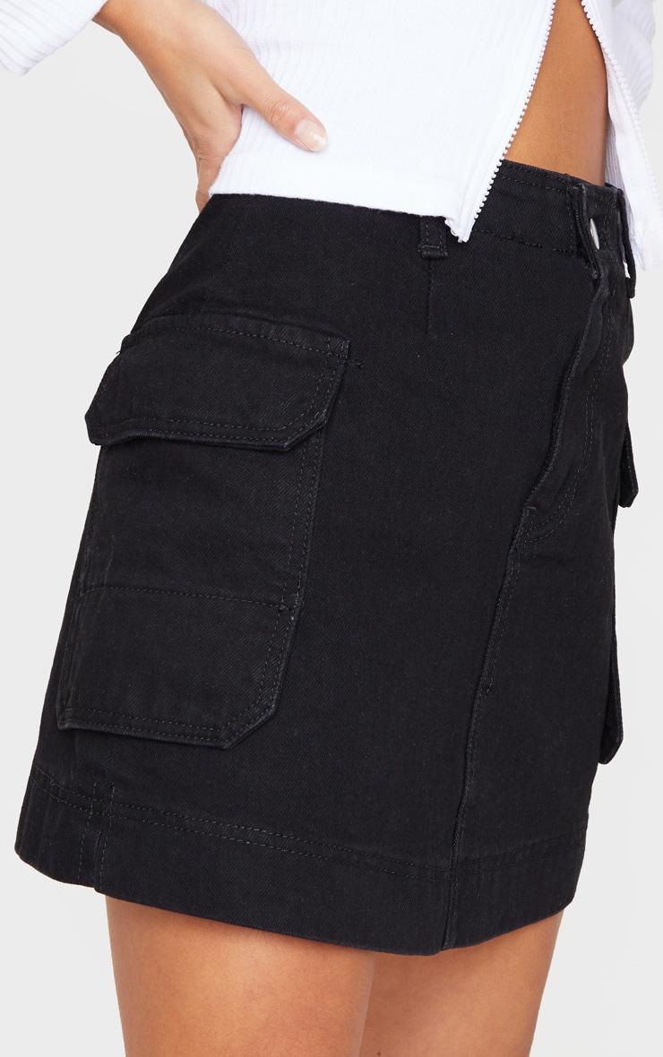 Petite Black Cargo Skirt 6