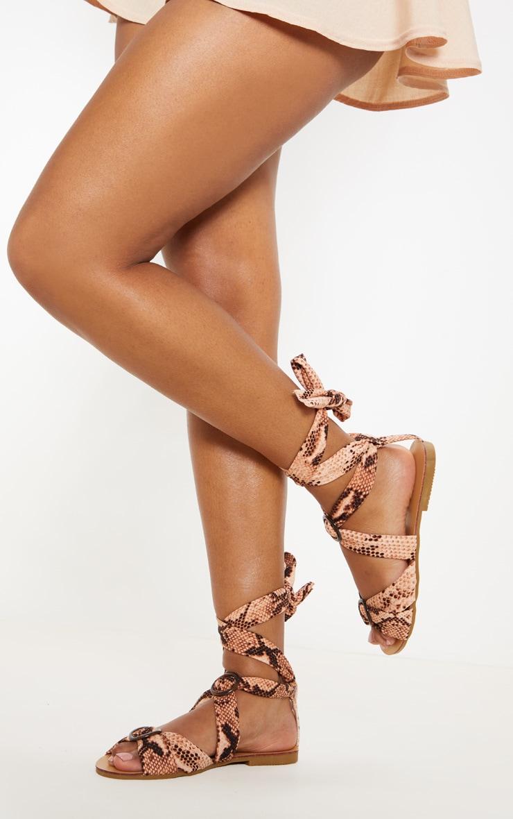Snake Tortoise Ghillie Lace Up Sandal 1