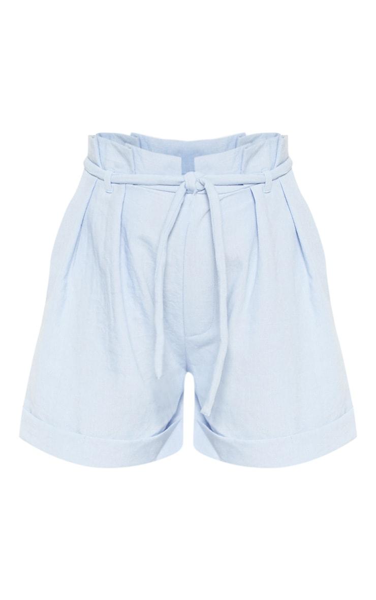 Powder Blue Linen Short  3