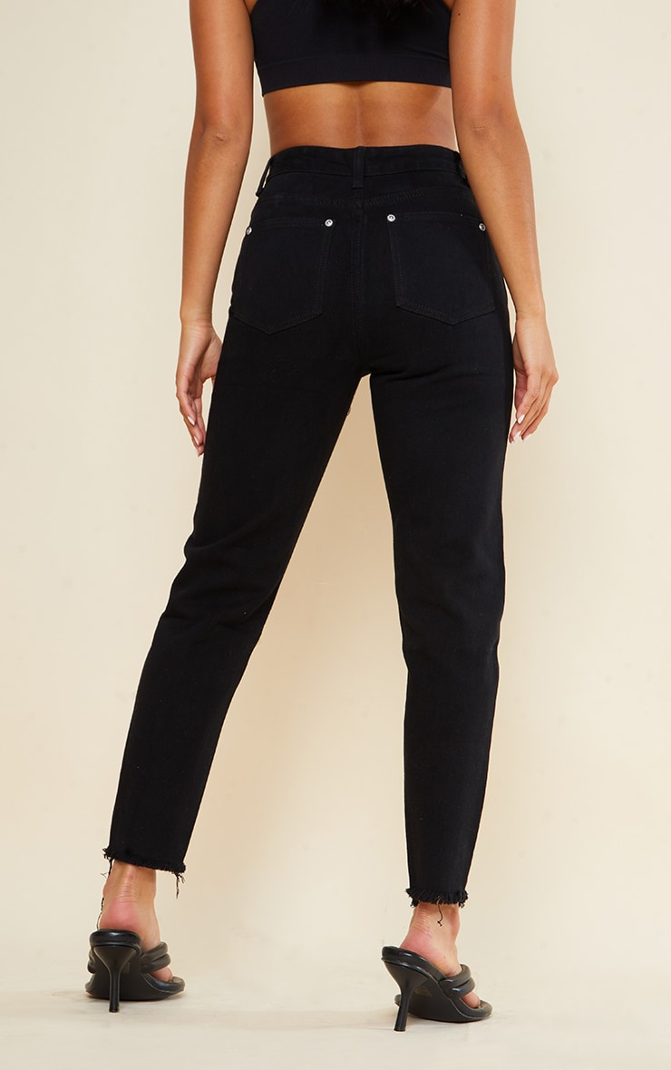 Petite Black Denim Straight Leg Jeans 3