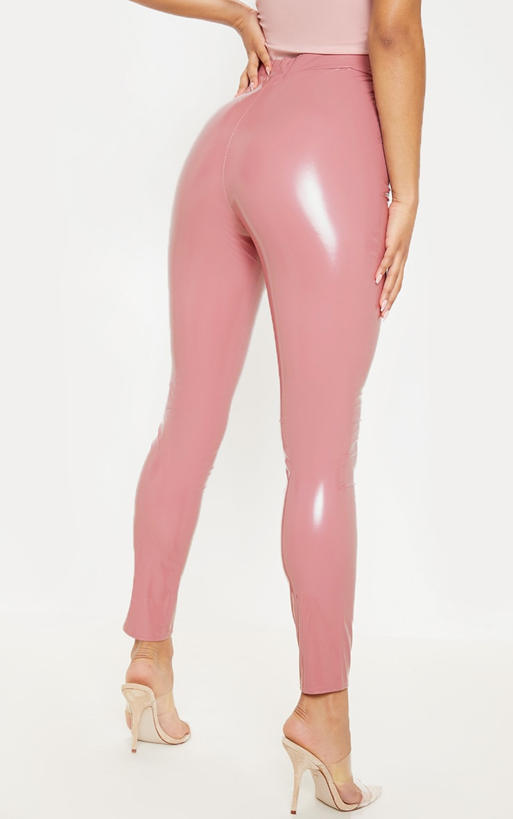Dusty Pink Vinyl Leggings 4