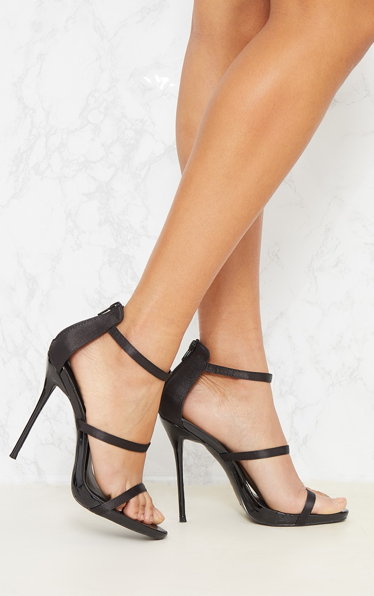 Black Triple Strap Sandal 1