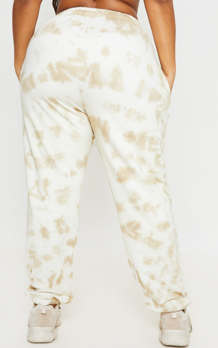 Plus Cream Tie Dye Jogger 3