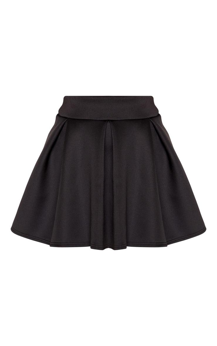 Black Scuba Skater Mini Skirt 3