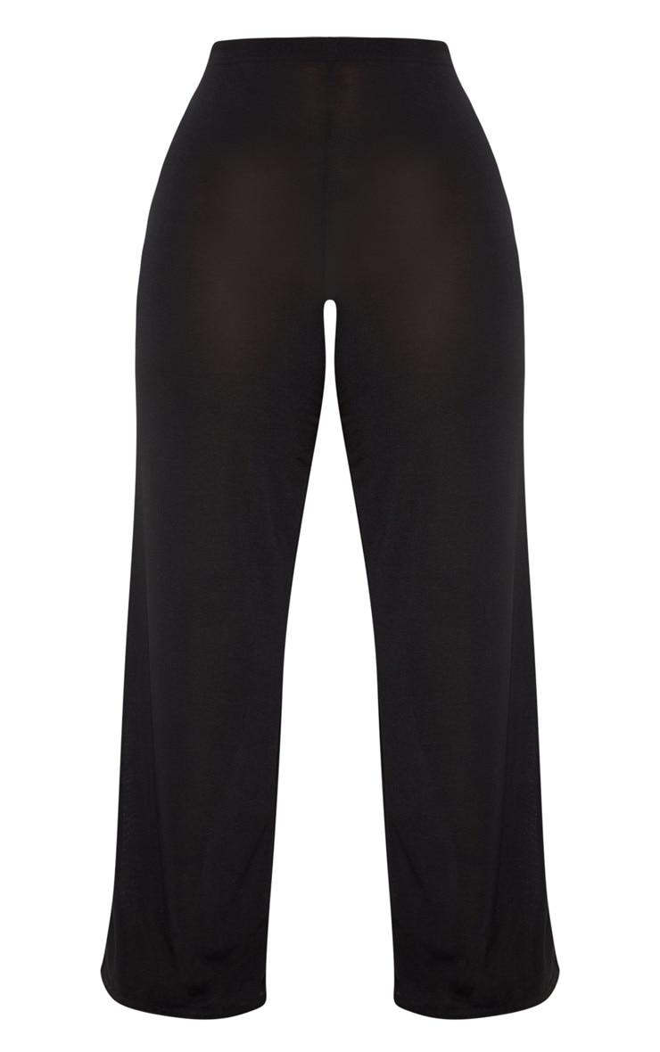 Plus Black Knitted Wide Leg Trouser 3