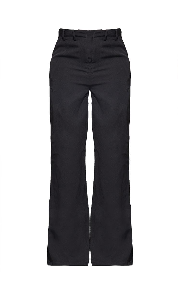 Tall Black Wide Leg Dad Pants 5