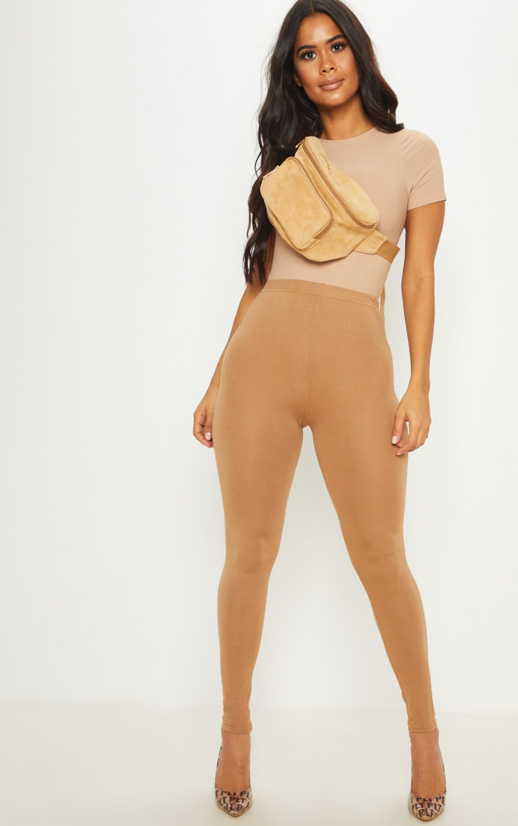 Basic Camel Jersey Legging