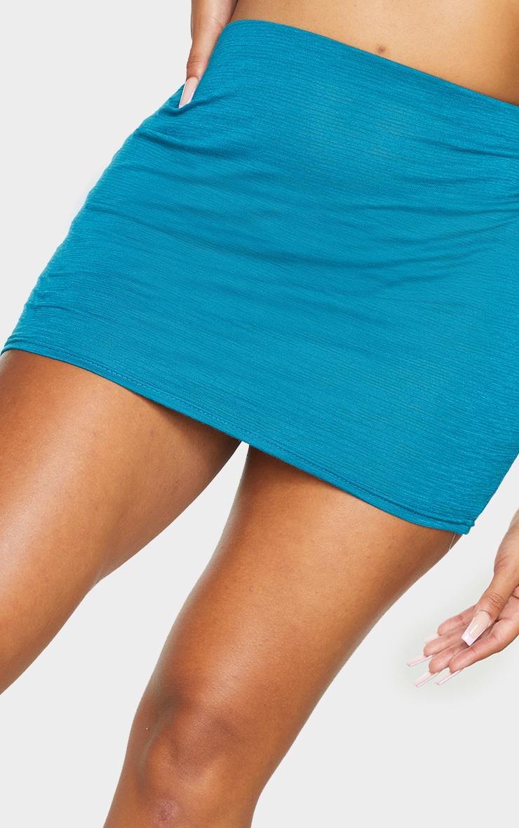 Shape Teal Burnout Jersey Bodycon Skirt 5