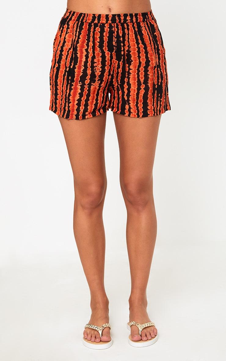 Orange Tie Dye Shorts 2
