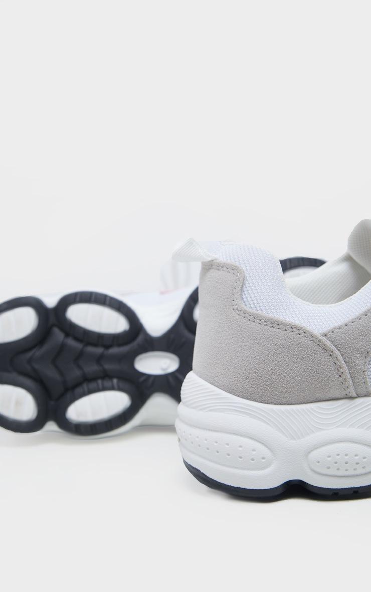 Grey Basic Chunky Sneakers 4