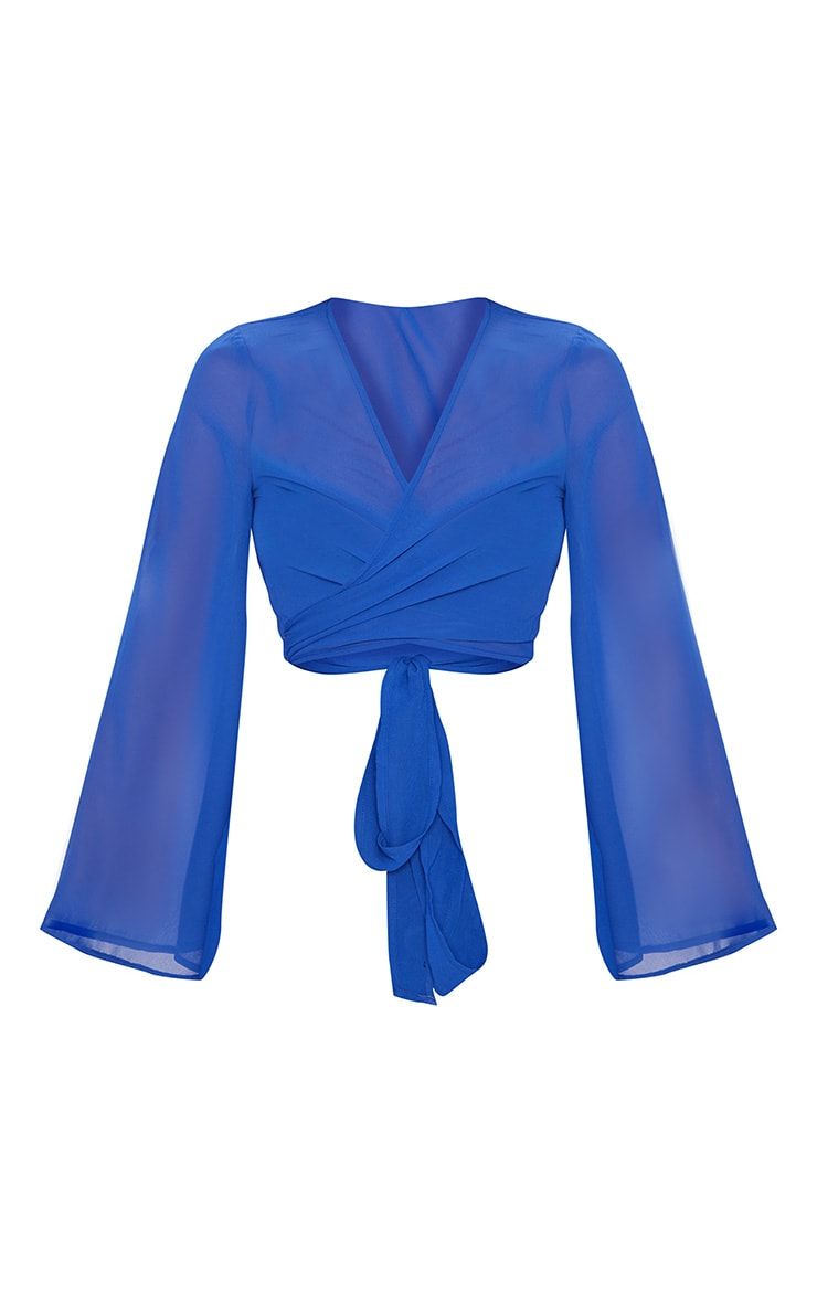 Premium Blue Tie Front Beach Top 4