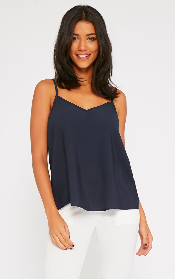 Sandi Navy V-Neck Cami 1