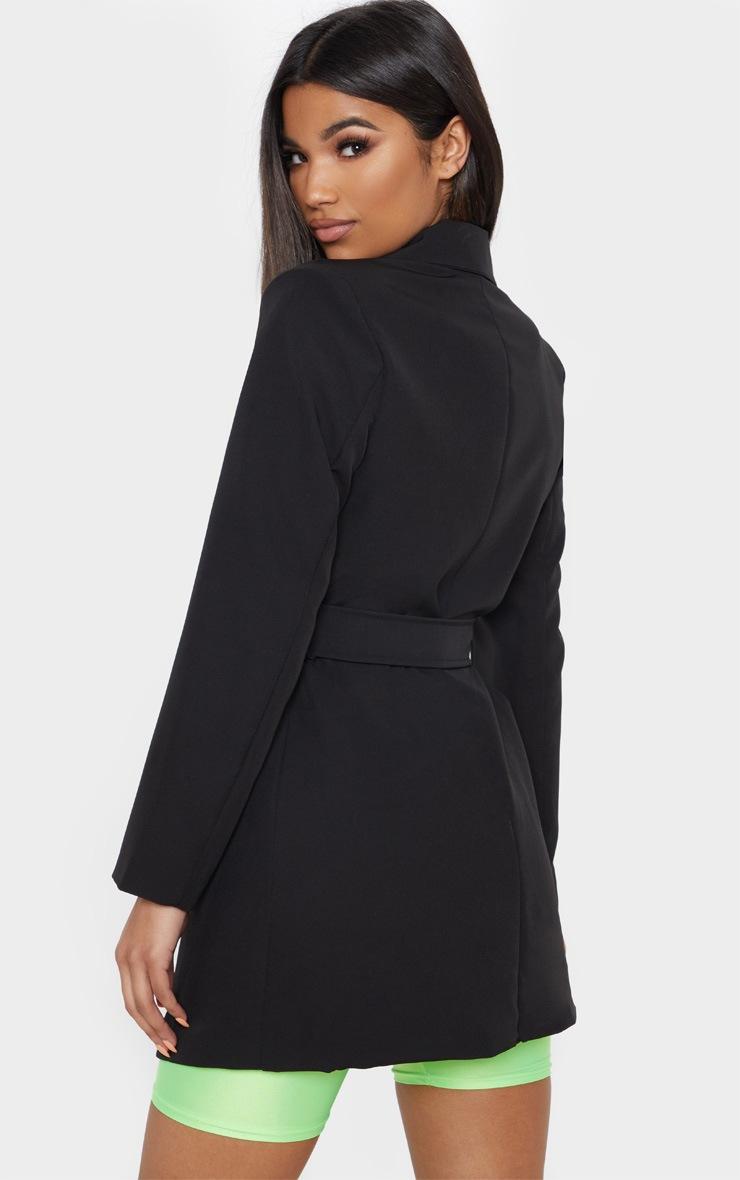 Black Blazer Belted  2