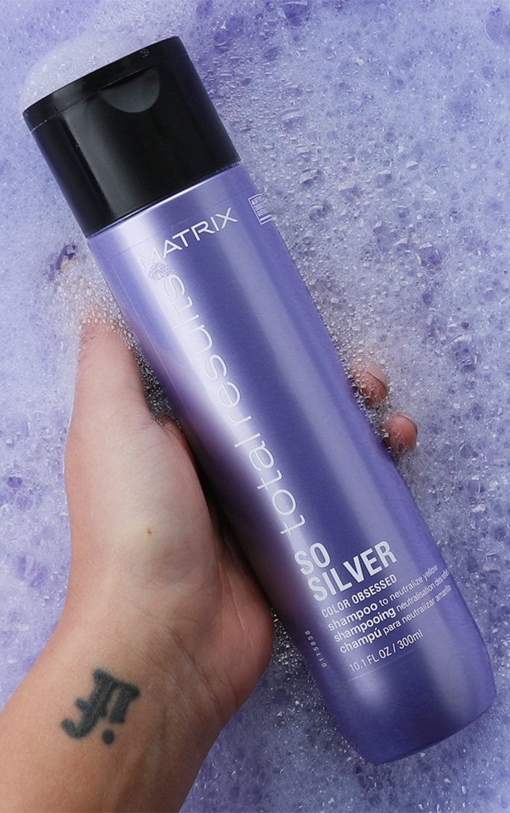 Matrix Total Results Color Obsessed So Silver Shampoo Blonde Hair 300ml 4