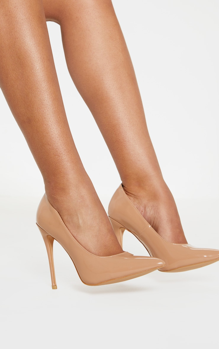 Mid Nude Court Shoes 3