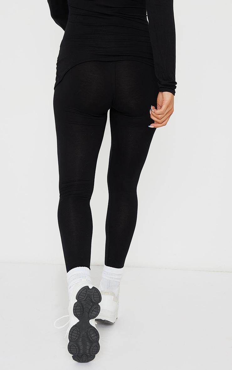 Maternity  Black Jersey Leggings 3