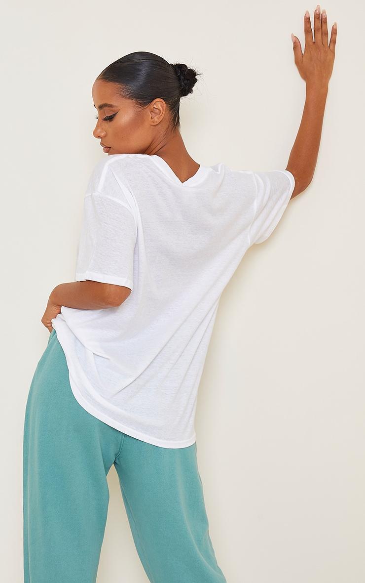 White Palm Springs Printed T Shirt 2