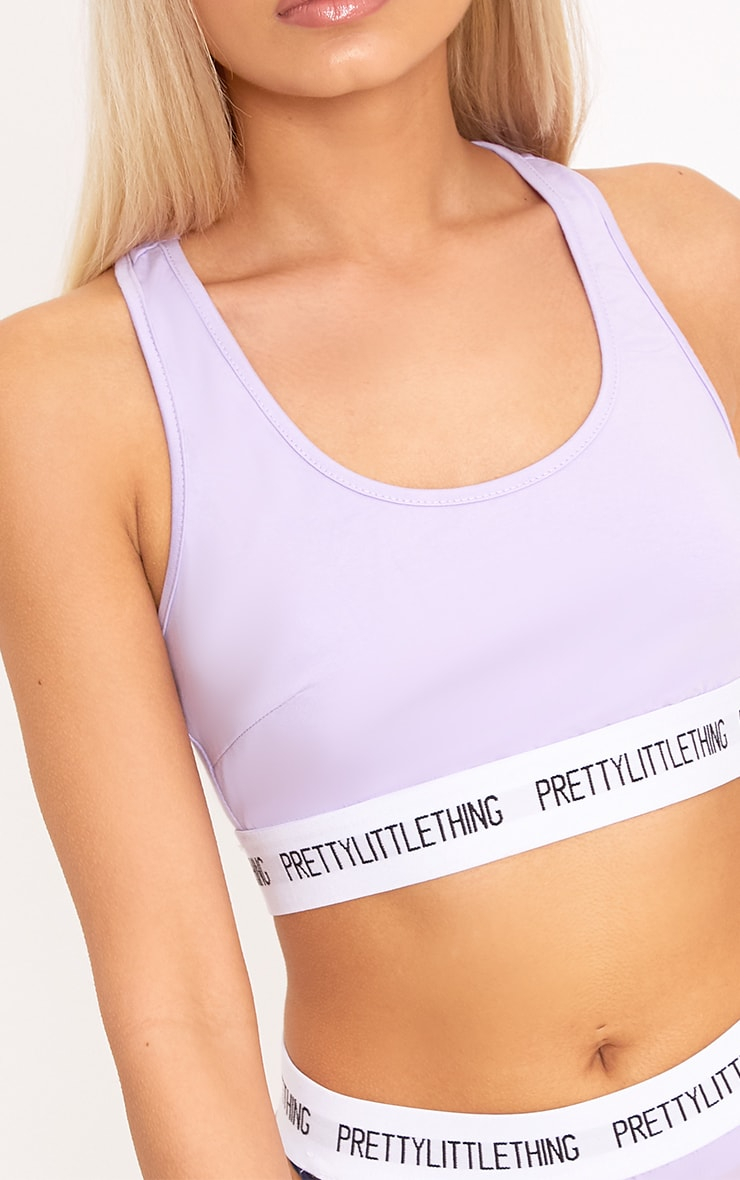 PRETTYLITTLETHING Lilac Sports Bra 5