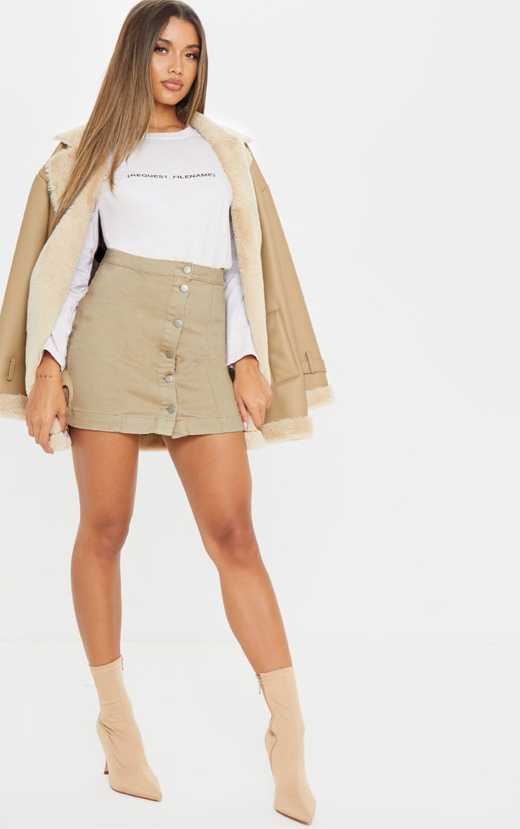 Dark Stone Denim Cammie Mini Skirt 5