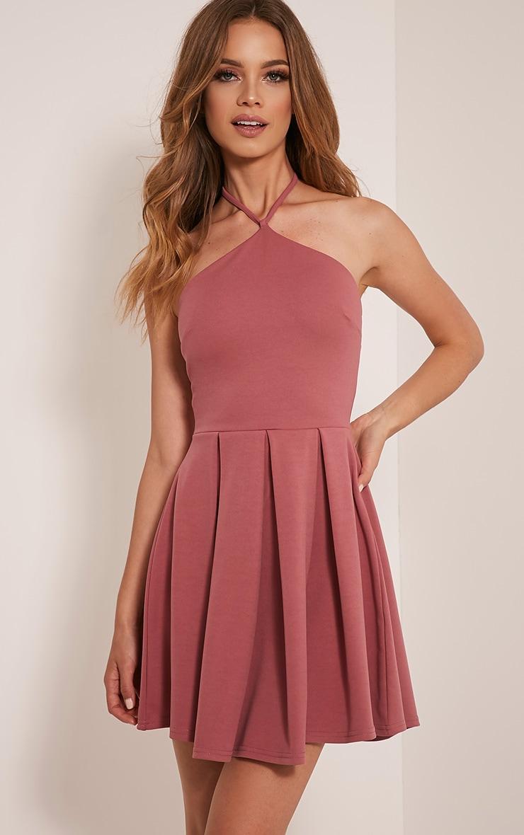 Marnia Rose Triangle Neckline Prom Dress 1