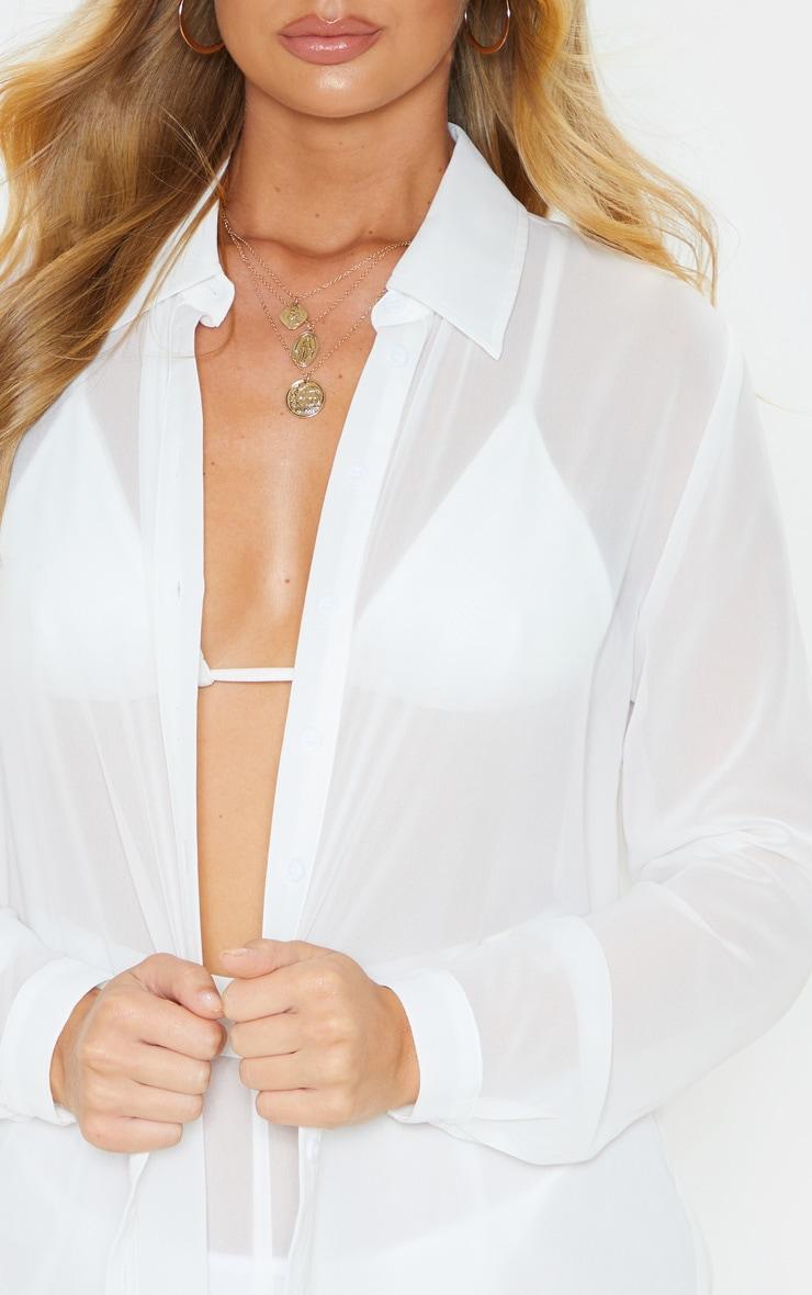 White Beach Shirt 5