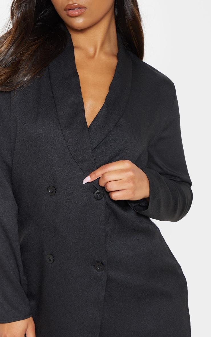 Black Oversized Blazer Shift Dress 4