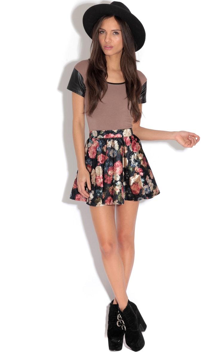 Clea Brown Contrast Sleeve Top-12 3