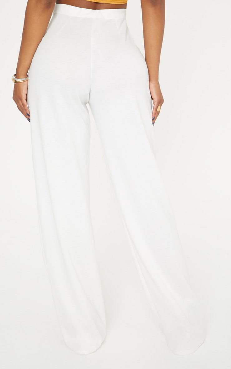 Shape White Wide Leg Trousers 4